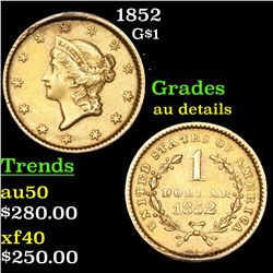 1852 Gold Dollar $1 Grades AU Details