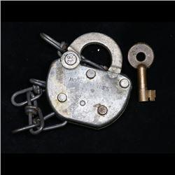 Antique Adlake Lock with Key