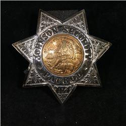 Vintage Ed Jones Johnson Securtiy Patrol Badge