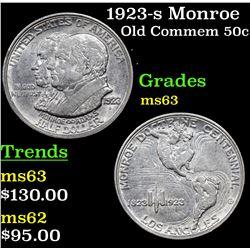 1923-s Monroe Old Commem Half Dollar 50c Grades Select Unc
