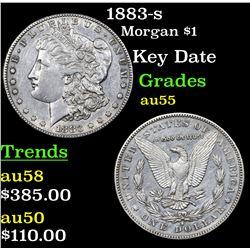 1883-s Morgan Dollar $1 Grades Choice AU
