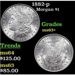 1882-p Morgan Dollar $1 Grades Select+ Unc