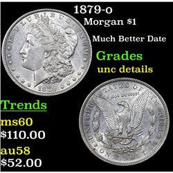 1879-o Morgan Dollar $1 Grades Unc Details