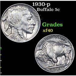 1930-p Buffalo Nickel 5c Grades xf