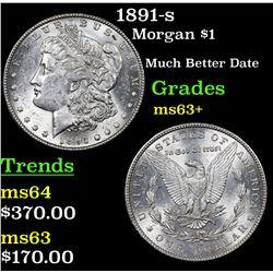 1891-s Morgan Dollar $1 Grades Select+ Unc