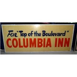 "Vintage Sign For ""Top of the Boulevard"" Columbia Inn"