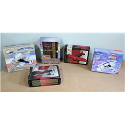 Qty 5 Model Planes w/ Boxes - Ltd. Edition Pepsi Stearman, Travel Air, Lockheed Vega, etc