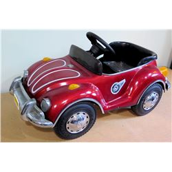Junior Sportsters Child's Riding Pedal, Volkswagen Beetle Car, Red