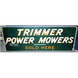 "Vintage Metal Sign ""Trimmer Power Motors Sold Here"""