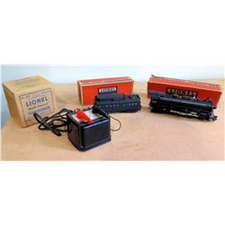 Qty 2 Lionel Lines Train Cars #2055 & #6026W w/ Multi Control Transformer