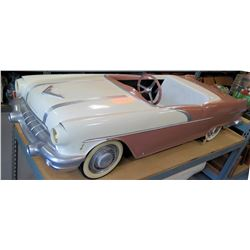 "Child's Riding Vintage Pontiac Convertible Electric Car w/ Whitewall Wheels, 70"" - Needs Battery"