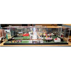 Railroad Station in Plexiglass w/ Transformer - Station House, Rail Crossing, etc