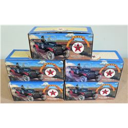 Qty 5 Boxes Texaco 1917 Maxwell Touring Model Cars Collector Series 14