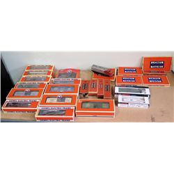 Qty 20+ Lionel Electric Trains, Boxed Train Cars - Santa Fe, Rock Island, Wolfschmidt