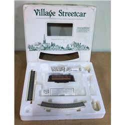 Boxed Village Streetcar w/ Lighted Windows, Department 56, Auto Reverse, etc