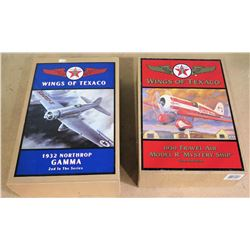 Qty 2 Texaco Planes in Box - 1932 Northrop Gamma & 1930 Travel Air Mystery Ship