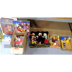 Multiple Misc Disney Collectibles - Stuffed Mickey Plush Animals, M&M's, etc