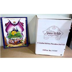"Walt Disney 'Snow White & the 7 Dwarfs' Porcelain Figurine Set, Ltd Ed  123/2500, Approx. 16"" Tall"