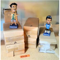 Qty 6 Bank of Hawaii Bobble Head Collectible Figures in Box - 2 Types
