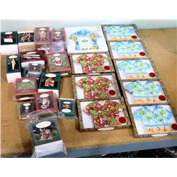 Qty 8 Boxes Hawaiian Aloha Shirt Stationery, Frame & Christmas Ornaments