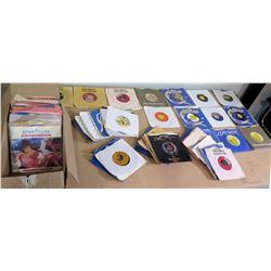 Multiple Misc Vinyl 45's Records - Janis Joplin, Rolling Stones, Motown, etc