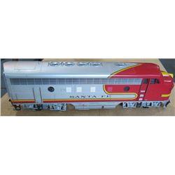 Silver & Red Locomotive Electric Train Car, Santa Fe Railroad