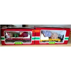 Qty 2 Train Cars 43100 & 43143 in Box by L.G.B. Lehmann-Gross Bahn Big Train