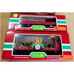 Qty 2 Train Cars 41124 & 45110 in Box by L.G.B. Lehmann-Gross Bahn Big Train