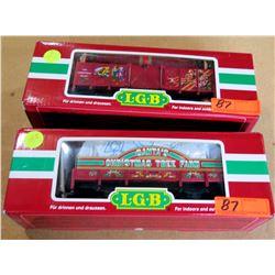 Qty 2 Train Cars 42103 & 40217 in Box by L.G.B. Lehmann-Gross Bahn Big Train