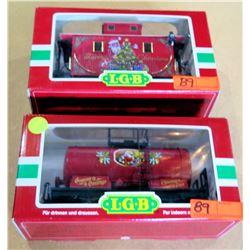 Qty 2 Train Cars 47400 & 44650 in Box by L.G.B. Lehmann-Gross Bahn Big Train