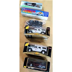 Qty 5 Collectible Cars in Box - Maisto Corvette ZR-1, Tanker & 3 Hummers