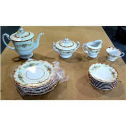 Teapot, Creamer & Sugar Bowl, Saucers, Plates, etc - Sango (Made In Japan)