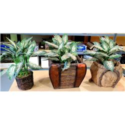 Qty 3 Artificial Plants