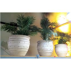 Qty 3 Artificial Plants in Decorative Planters