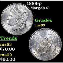 1889-p Morgan Dollar $1 Grades Select Unc