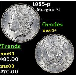 1885-p Morgan Dollar $1 Grades Select+ Unc