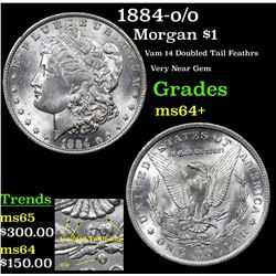 1884-o/o Morgan Dollar $1 Grades Choice+ Unc