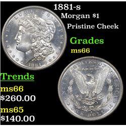 1881-s Morgan Dollar $1 Grades GEM+ Unc