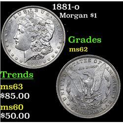 1881-o Morgan Dollar $1 Grades Select Unc