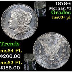1878-s Morgan Dollar $1 Grades Select Unc+ PL