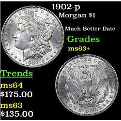 1902-p Morgan Dollar $1 Grades Select+ Unc