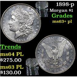 1898-p Morgan Dollar $1 Grades Select Unc+ PL