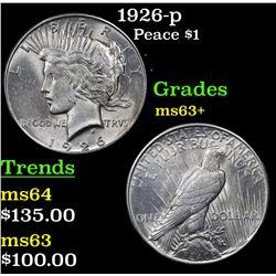1926-p Peace Dollar $1 Grades Select+ Unc