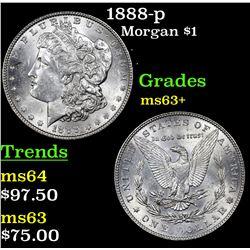 1888-p Morgan Dollar $1 Grades Select+ Unc