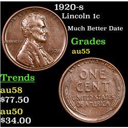 1920-s Lincoln Cent 1c Grades Choice AU