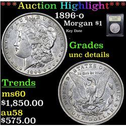 ***Auction Highlight*** 1896-o Morgan Dollar $1 Graded Unc Details By USCG (fc)