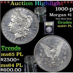 ***Auction Highlight*** 1900-p Morgan Dollar $1 Graded Choice Unc+ PL By USCG (fc)