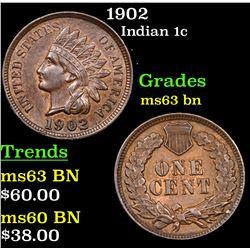 1902 Indian Cent 1c Grades Select Unc BN