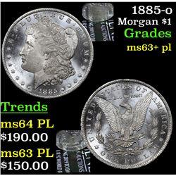 1885-o Morgan Dollar $1 Grades Select Unc+ PL