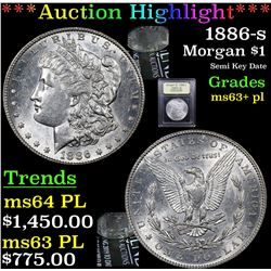 ***Auction Highlight*** 1886-s Morgan Dollar $1 Graded Select Unc+ PL By USCG (fc)